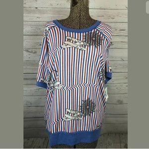 LuLaRoe Jane patriotic sweatshirt